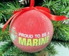 "Item # 483876 - 3"" Proud To Be A Marine Christmas Ornament"