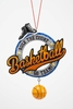 "Item # 483879 - 5"" Basketball Christmas Ornament"
