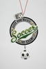"Item # 483881 - 4.5"" Soccer Christmas Ornament"