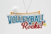 "Item # 483884 - 2.25"" Volleyball Rocks Christmas Ornament"