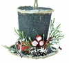 "Item # 483893 - 3.25"" Snowman Hat With Pine Needles Ornament"