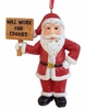 "Item # 483944 - 4"" Will Work For Cookies Santa Ornament"
