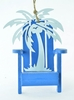 "Item # 483951 - 4"" Adirondack Chair With Palm Tree Christmas Ornament"