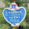 "Item # 483952 - 4"" I Pledge Allegiance To The Sea Christmas Ornament"