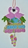 "Item # 483955 - 5"" Flamingo Sign Christmas Ornament"