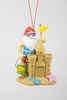 "Item # 483958 - 4"" Santa/Sand Castle Christmas Ornament"