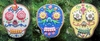 "Item # 483972 - 3.75"" Day of the Dead Skull Christmas Ornament"