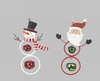 Item # 495258 - Snowman/Santa With Bells Christmas Ornament