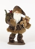 Item # 495767 - Brown Fur Walking Santa Sit Around