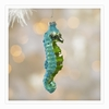 Item # 497012 - Glass Seahorse Christmas Ornament