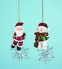 Item # 501386 - Santa/Snowman Christmas Ornament