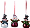 Item # 501471 - Shiny LED Snowman Ornament