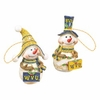 Item # 509008 - West Virginia University Mountaineers Snowman Ornament