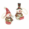 Item # 509340 - University of Georgia Bulldogs Snowman Ornament