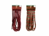 Item # 518021 - 18 Foot Long Wooden Burgundy/Red & Green Bead Garland