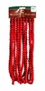 Item # 518021 - 18 Foot Long Wooden Bright Red Bead Garland