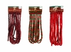 Item # 518021 - 18 Foot Long Wooden Burgundy/Red & Green/Bright Red Bead Garland