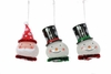 "Item # 518071 - 4"" LED Santa/Snowman Ornament"