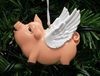 Item # 525050 - Flying Pig Christmas Ornament