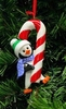 Item # 525128 - Petey The Penguin With Candy Cane Christmas Ornament