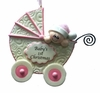 Item # 525130 - Pink Baby Buggy Ornament