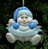Item # 525131 - Blue Snowbaby Ornament
