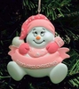 Item # 525132 - Pink Snowbaby Ornament