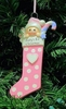 Item # 525134 - Pink Long Baby Stocking Ornament