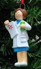 Item # 525138 - Pharmacist Woman Christmas Ornament