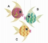 Item # 527012 - Tropical Stripe Fish Christmas Ornament