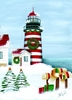 Item # 552015 - Striped Lighthouse/Mailbox Christmas Cards