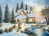 Item # 552095 - Creek Bridge House Christmas Cards