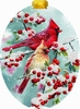 Item # 552097 - Cardinals/Berries Card Ornament