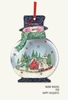 Item # 552192 - Snowman/Village/Train Christmas Card Ornament