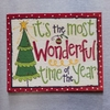 Item # 553004 - It's The Most Wonderful Time Of The Year Christmas Tree Magnet