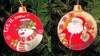 Item # 558016 - Snowman/Santa Disc Ornament