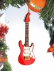 "Item # 560005 - 5"" Red Electric Guitar Ornament"