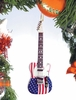 "Item # 560009 - 5"" U.S. Flag Electric Guitar Ornament"