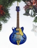"Item # 560049 - 5"" Navy Blue Electric Guitar Ornament"