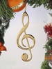 Item # 560057 - Gold Treble Clef Ornament