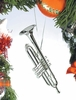 Item # 560063 - Silver Brass Trumpet Ornament