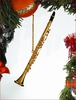 Item # 560064 - Gold Brass Clarinet Ornament