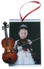 "Item # 560065 - 3"" x 4.5"" Violin Photo Frame Ornament"