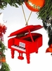 Item # 560079 - Red Grand Piano Ornament