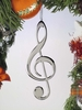 Item # 560084 - Silver Treble Clef Ornament