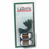 Item # 568079 - Set of 10 Battery Operated Christmas Tree Lights With Green Wire & Clear Bulbs