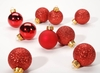 Item # 568098 - 30 MM Red Ball Christmas Ornaments - 9 Piece Package