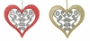 "Item # 568168 - 4"" Glitter Filigree Heart Christmas Ornament"