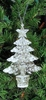 Item # 568413 - Clear Glittered Tree Christmas Ornament