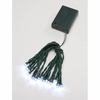 Item # 568480 - Set of 20 Battery Operated LED Christmas Tree Lights With Green Wire & Clear Bulbs